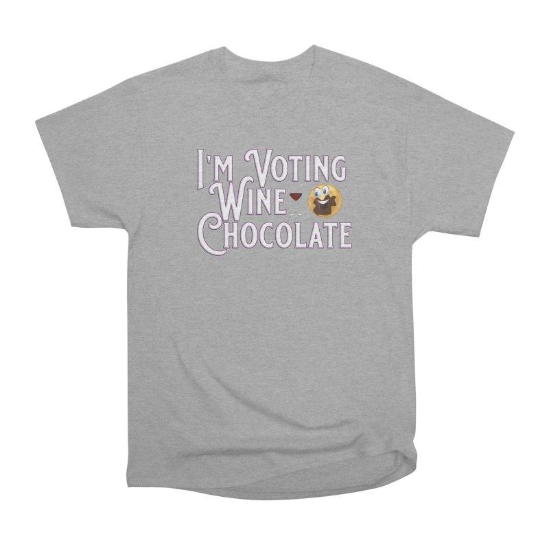 Voting Wine Chocolate Women's Heavyweight Unisex T-Shirt by Leading Artist Shop