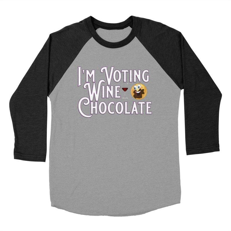 Voting Wine Chocolate Women's Baseball Triblend Longsleeve T-Shirt by Leading Artist Shop