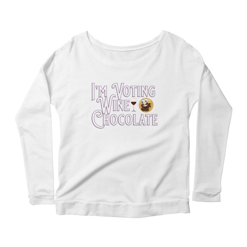 Voting Wine Chocolate Women's Scoop Neck Longsleeve T-Shirt by Leading Artist Shop