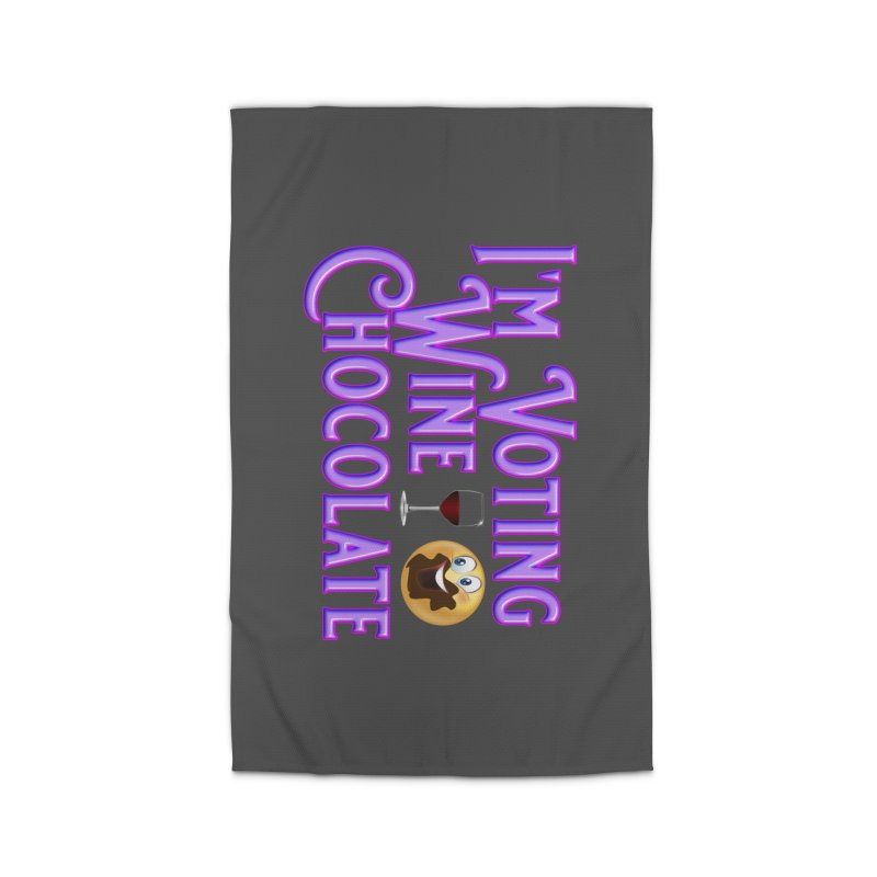 Voting Wine Chocolate Purple Lettering Home Rug by Leading Artist Shop