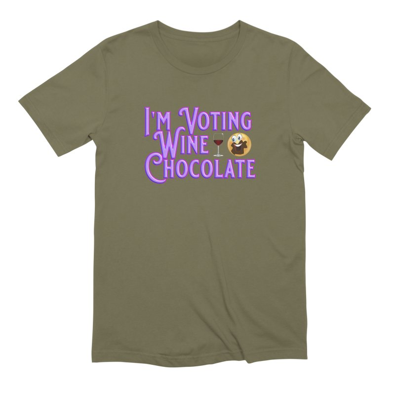Voting Wine Chocolate Purple Lettering Men's Extra Soft T-Shirt by Leading Artist Shop