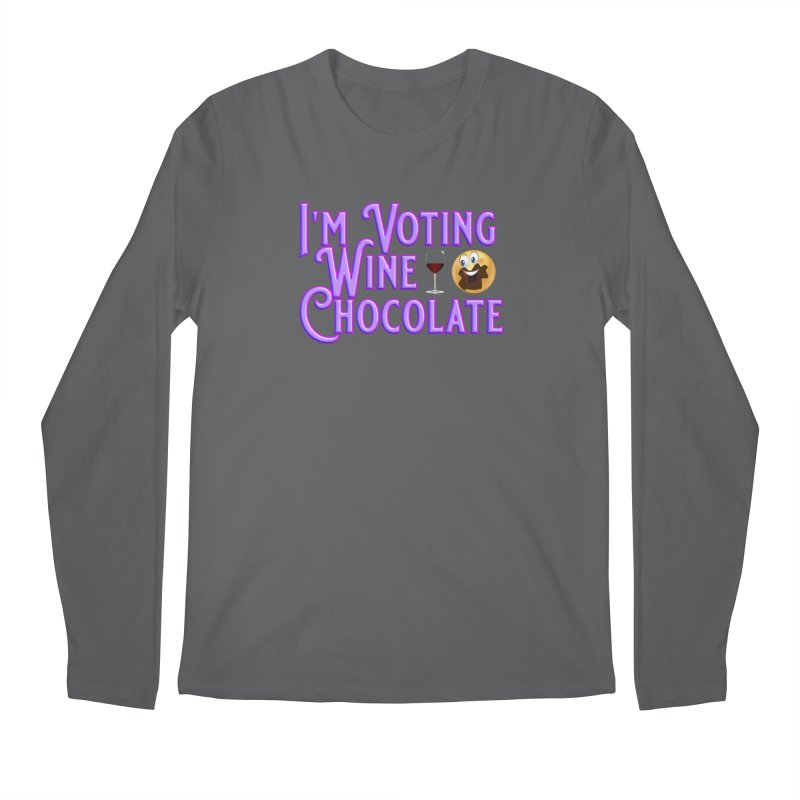 Voting Wine Chocolate Purple Lettering Men's Regular Longsleeve T-Shirt by Leading Artist Shop