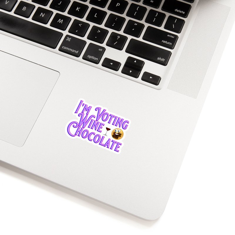 Voting Wine Chocolate Purple Lettering Accessories Sticker by Leading Artist Shop