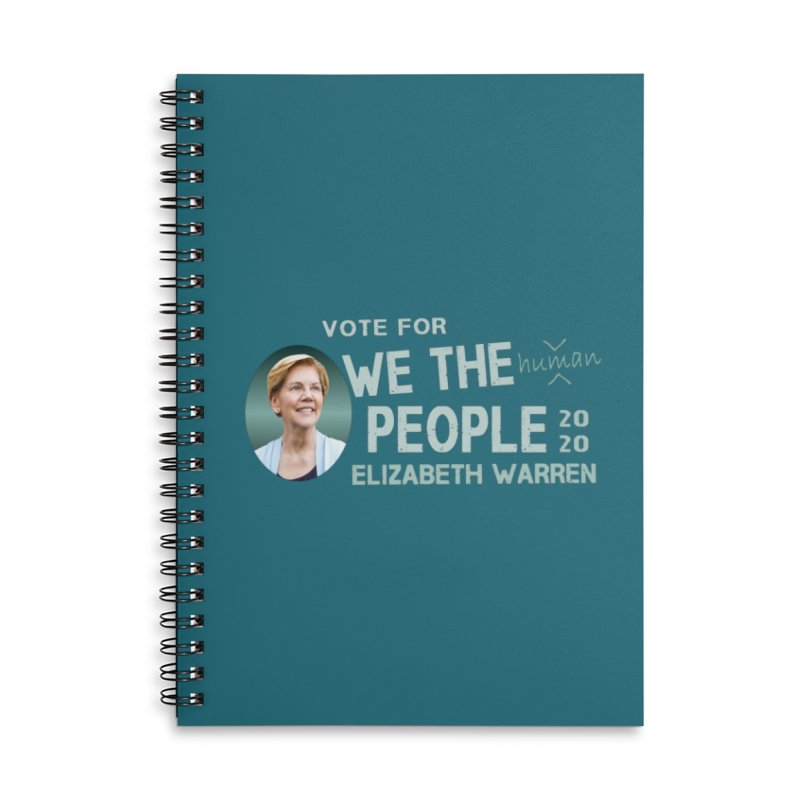 Elizabeth Warren We The People Human Accessories Lined Spiral Notebook by Leading Artist Shop