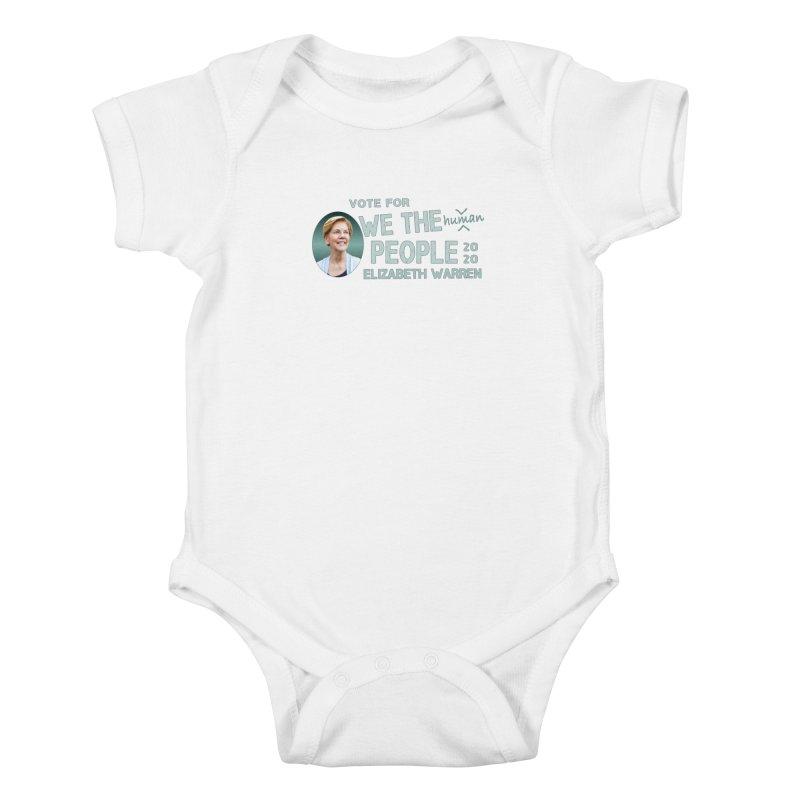 Elizabeth Warren We The People Human Kids Baby Bodysuit by Leading Artist Shop