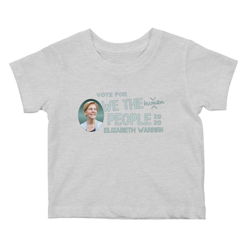 Elizabeth Warren We The People Human Kids Baby T-Shirt by Leading Artist Shop