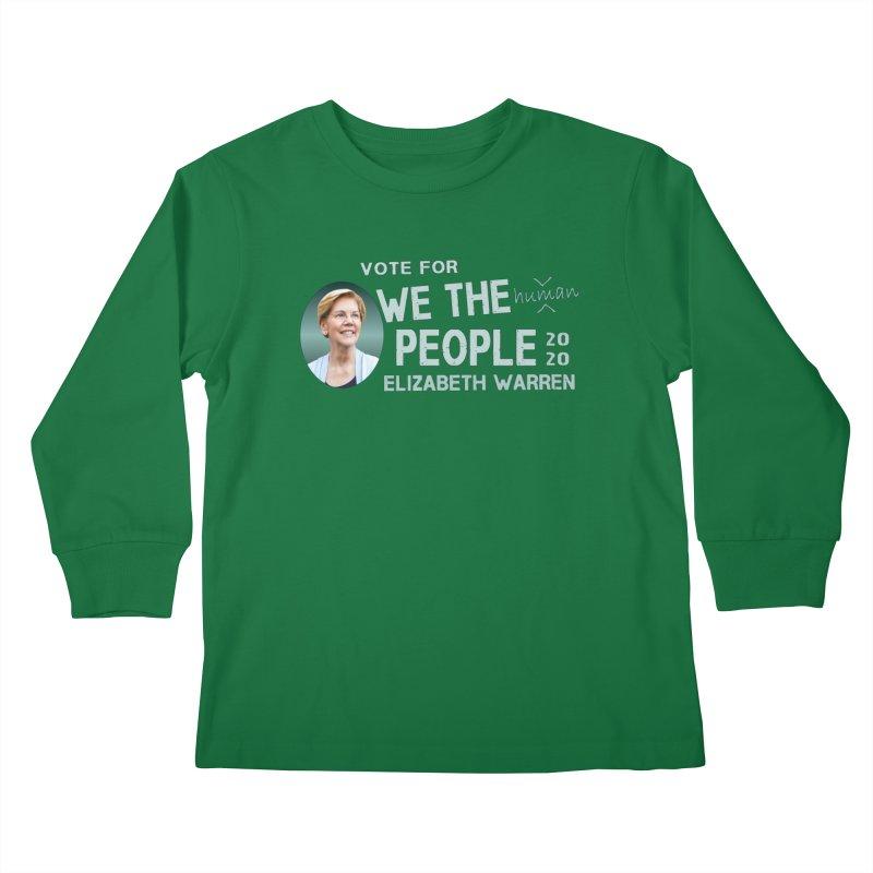 Elizabeth Warren We The People Human Kids Longsleeve T-Shirt by Leading Artist Shop