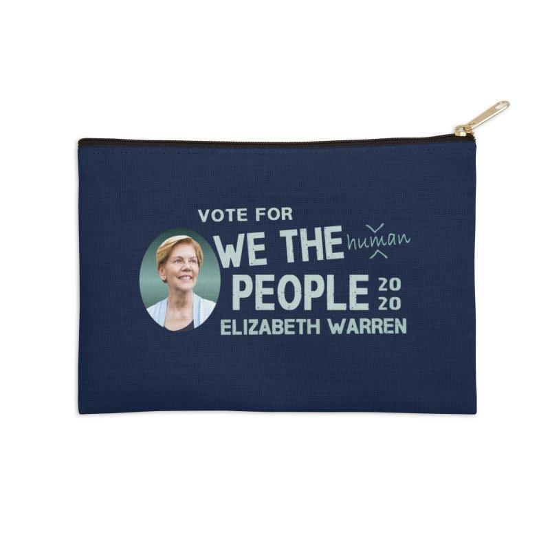 Elizabeth Warren We The People Human Accessories Zip Pouch by Leading Artist Shop