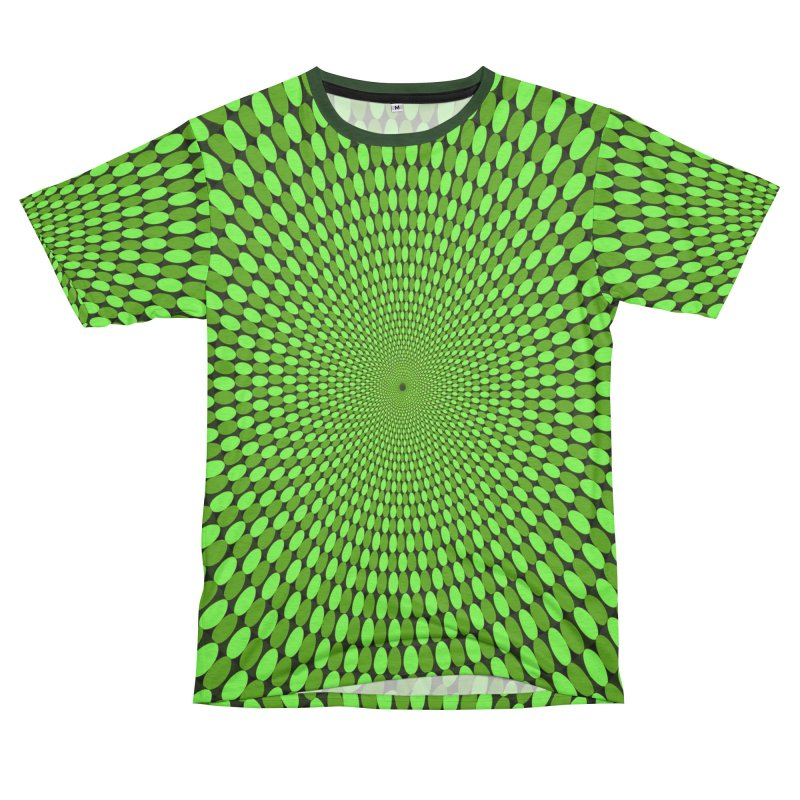 Illusion Pattern Shirt Men's French Terry T-Shirt Cut & Sew by Leading Artist Shop