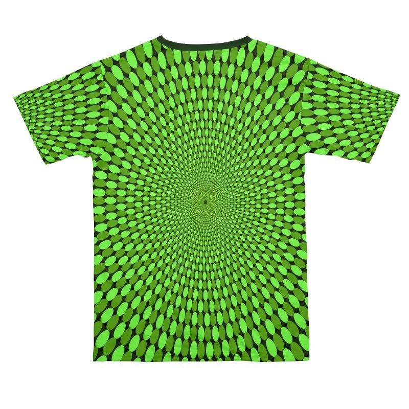 Illusion Pattern Shirt Men's Cut & Sew by Leading Artist Shop