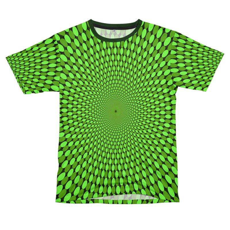 Illusion Pattern Shirt Women's Unisex T-Shirt Cut & Sew by Leading Artist Shop