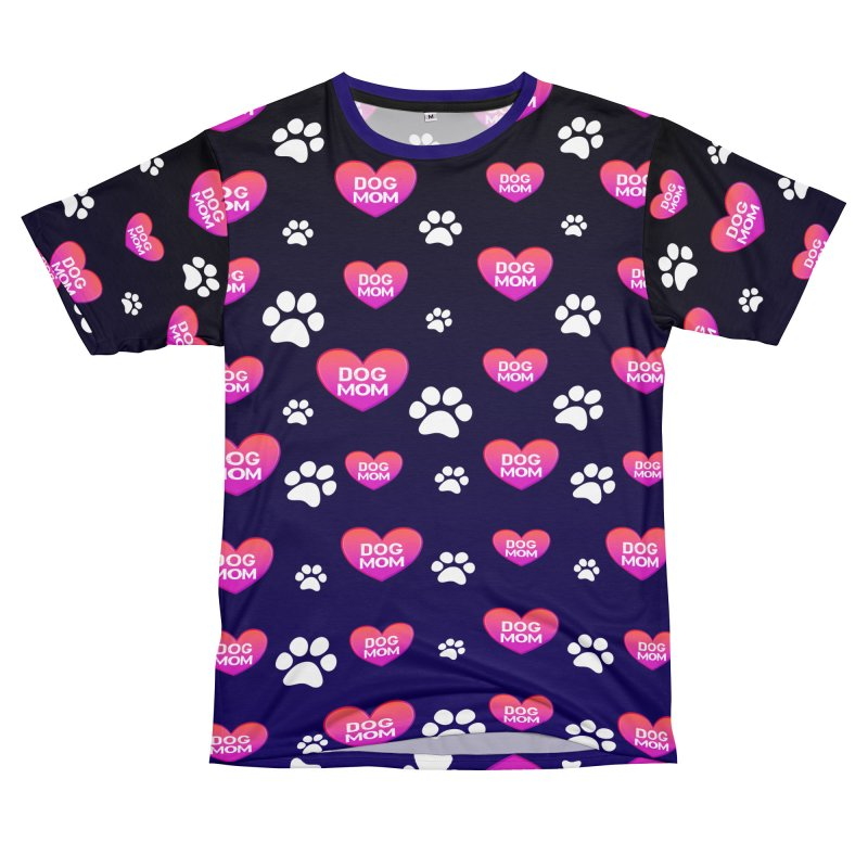 Awesome Dog Mom Shirt - Printed Both Sides Men's Cut & Sew by Leading Artist Shop