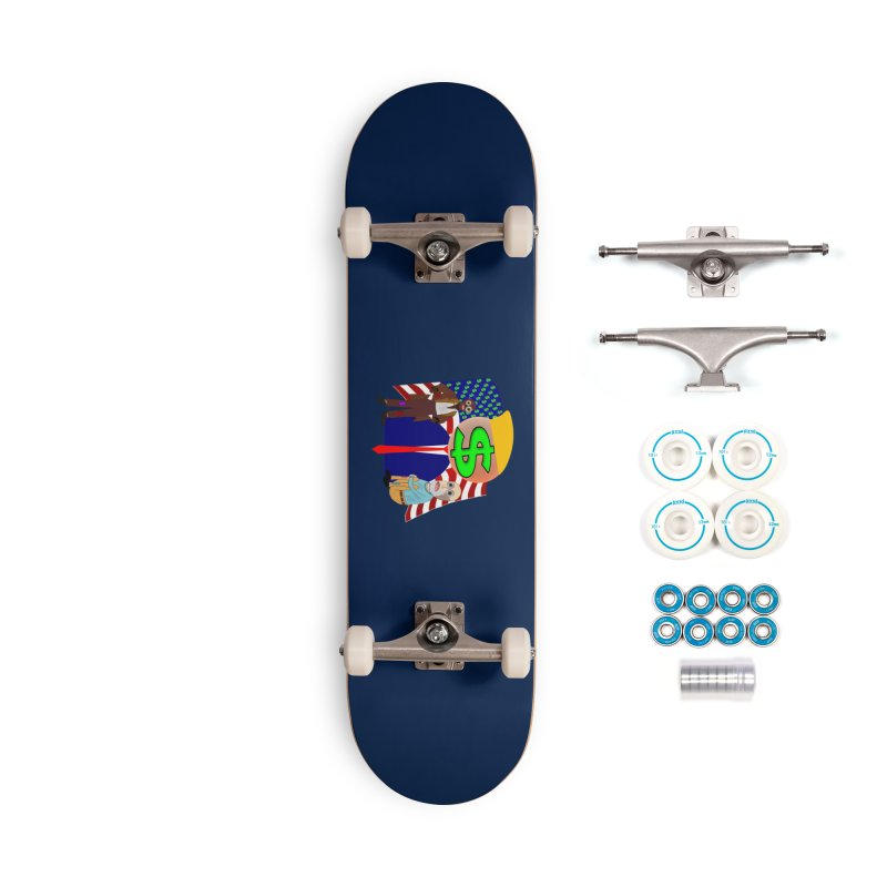US Government and Dada Art Accessories Complete - Basic Skateboard by Leading Artist Shop