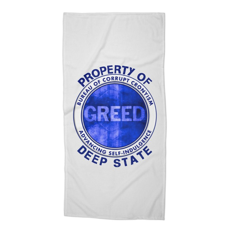 Property of Deep State Accessories Beach Towel by Leading Artist Shop