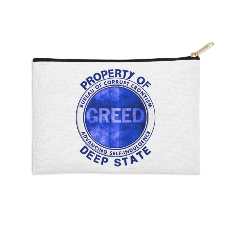 Property of Deep State Accessories Zip Pouch by Leading Artist Shop