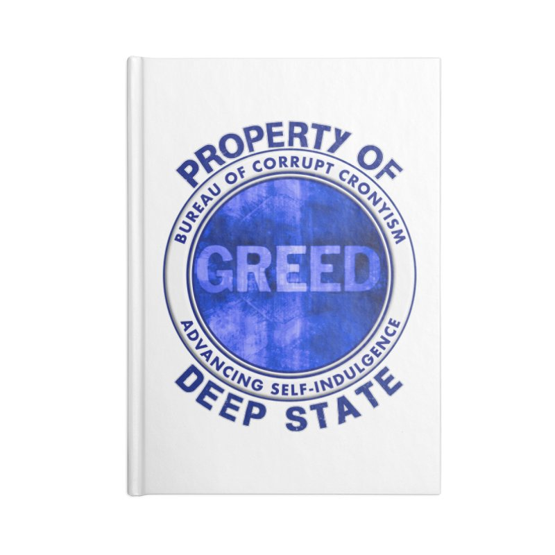 Property of Deep State Accessories Blank Journal Notebook by Leading Artist Shop