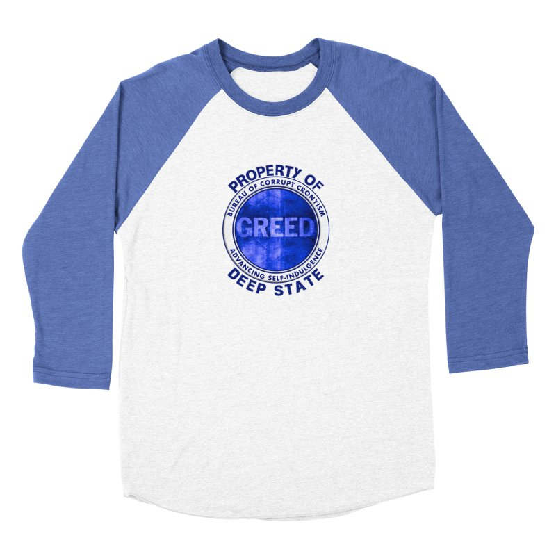 Property of Deep State Men's Baseball Triblend Longsleeve T-Shirt by Leading Artist Shop
