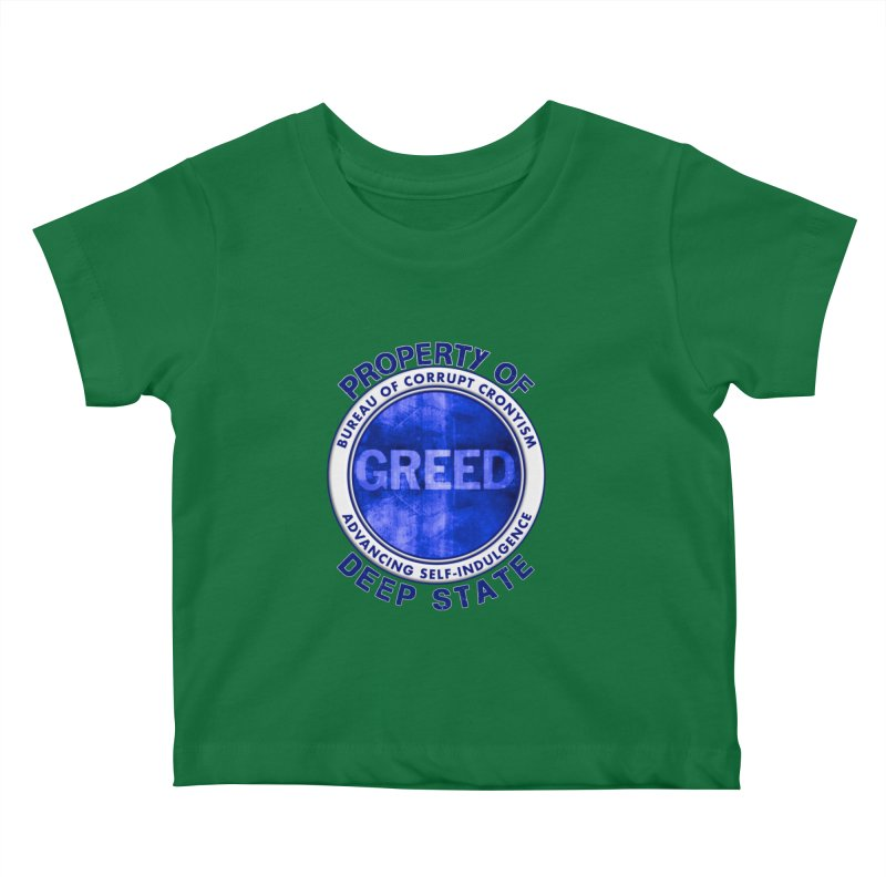 Property of Deep State Kids Baby T-Shirt by Leading Artist Shop