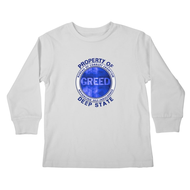 Property of Deep State Kids Longsleeve T-Shirt by Leading Artist Shop