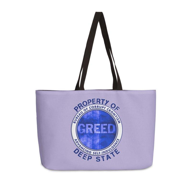 Property of Deep State Accessories Weekender Bag Bag by Leading Artist Shop