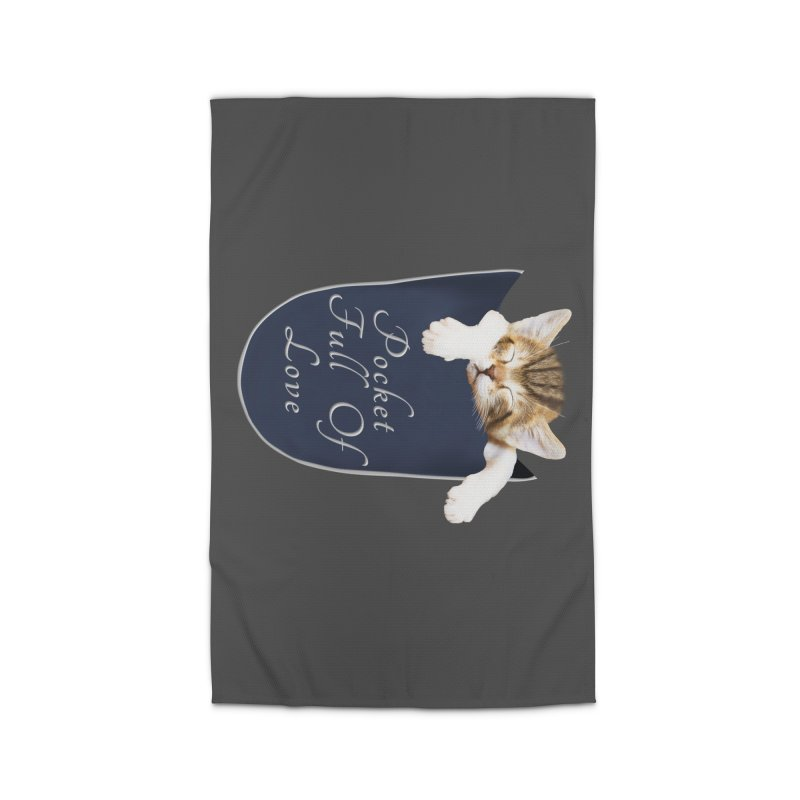 Pocket Full Of Love - Kitten in a Pocket Home Rug by Leading Artist Shop