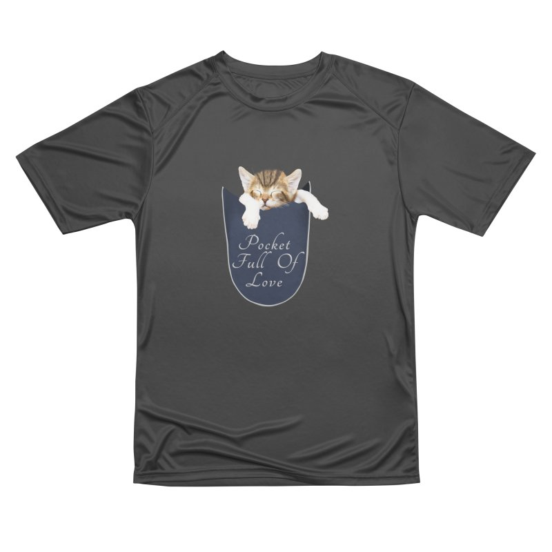Pocket Full Of Love - Kitten in a Pocket Women's Performance Unisex T-Shirt by Leading Artist Shop