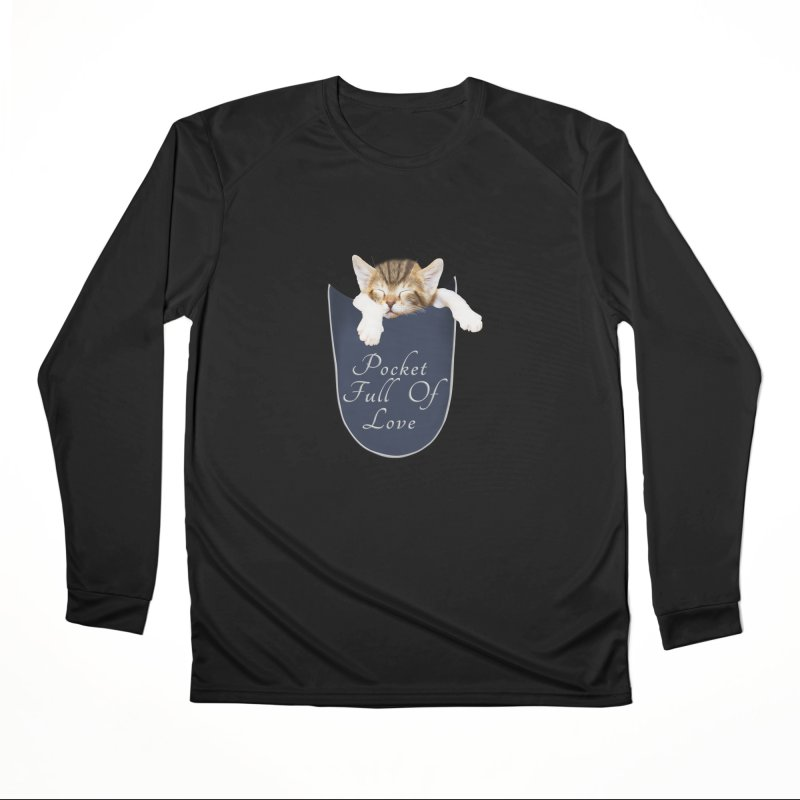 Pocket Full Of Love - Kitten in a Pocket Men's Performance Longsleeve T-Shirt by Leading Artist Shop