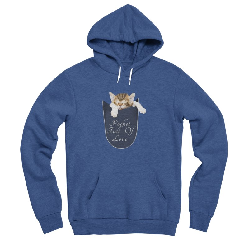 Pocket Full Of Love - Kitten in a Pocket Men's Sponge Fleece Pullover Hoody by Leading Artist Shop