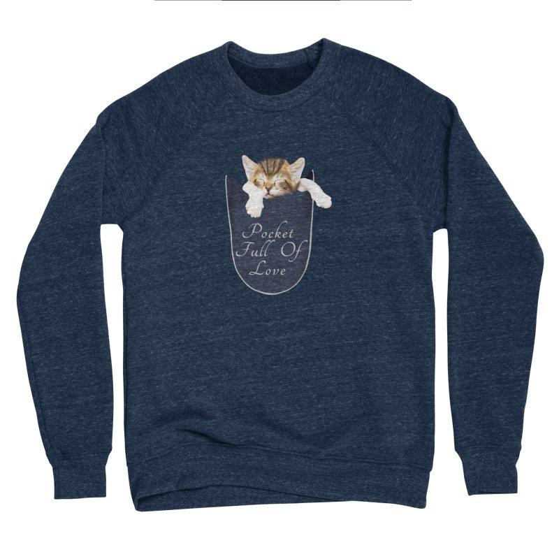 Pocket Full Of Love - Kitten in a Pocket Men's Sponge Fleece Sweatshirt by Leading Artist Shop