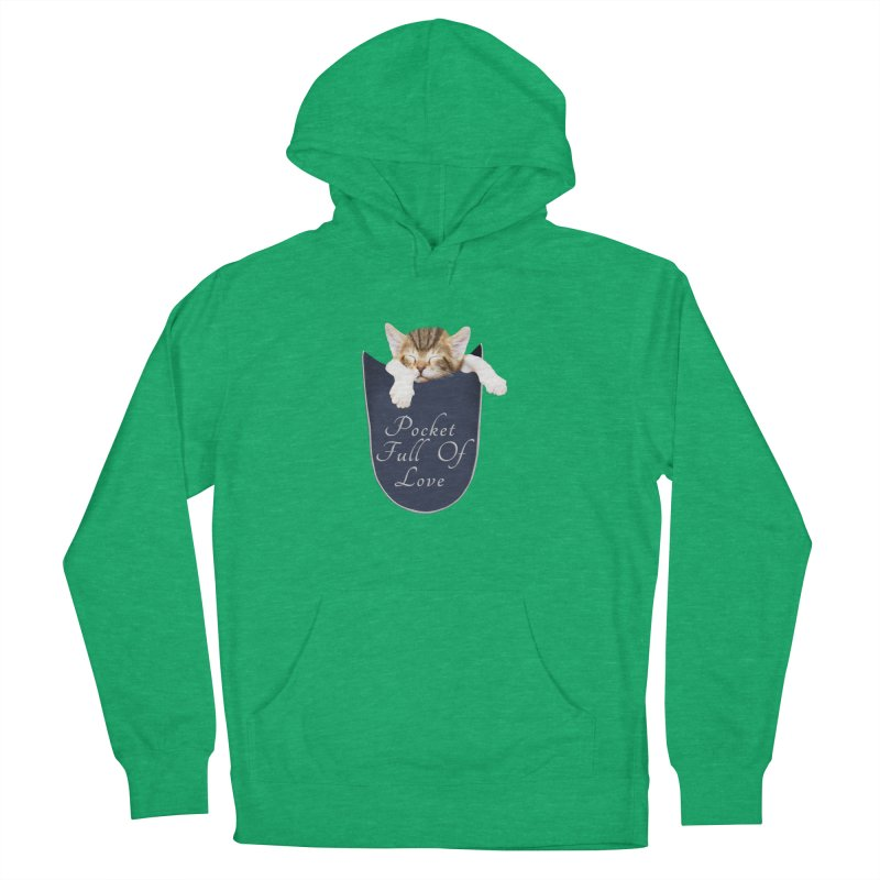 Pocket Full Of Love - Kitten in a Pocket Women's French Terry Pullover Hoody by Leading Artist Shop