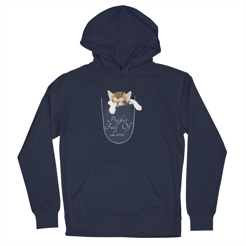 Pocket Full Of Love - Kitten in a Pocket Men's French Terry Pullover Hoody by Leading Artist Shop