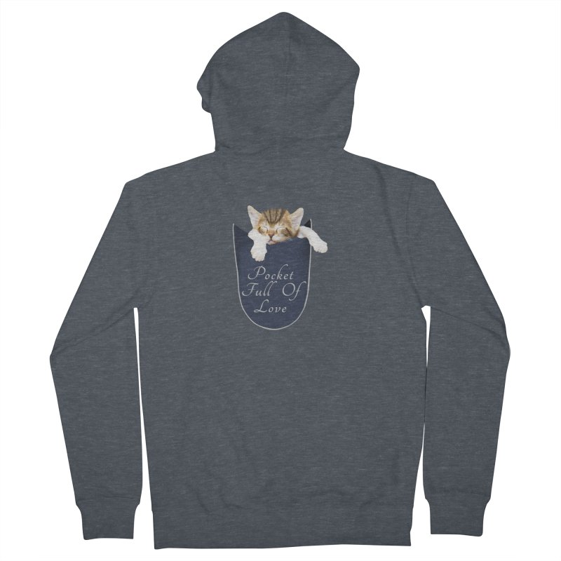 Pocket Full Of Love - Kitten in a Pocket Women's French Terry Zip-Up Hoody by Leading Artist Shop