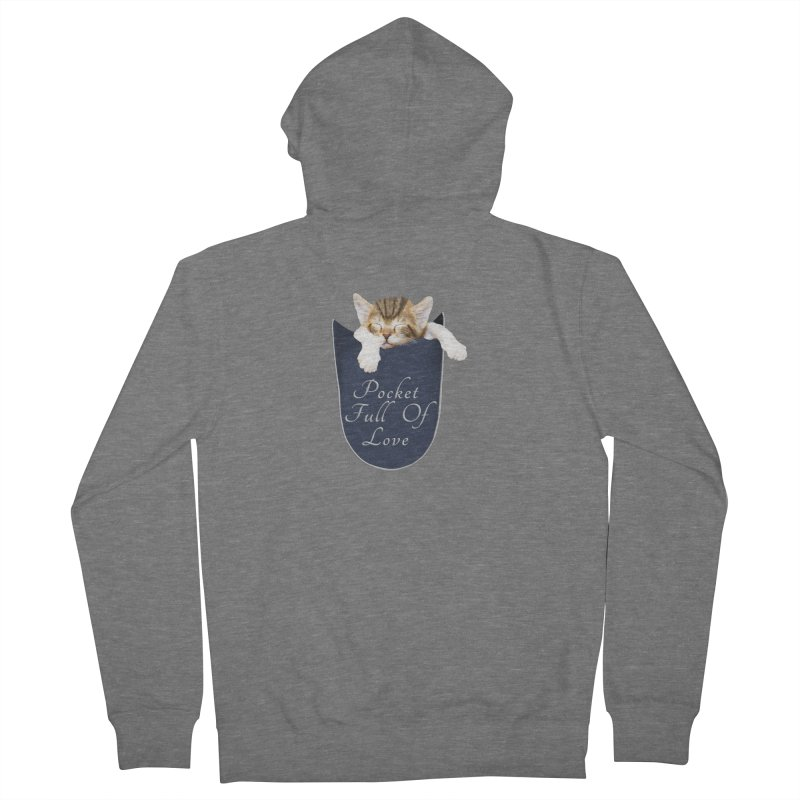 Pocket Full Of Love - Kitten in a Pocket Men's French Terry Zip-Up Hoody by Leading Artist Shop
