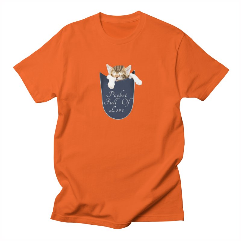 Pocket Full Of Love - Kitten in a Pocket Women's Regular Unisex T-Shirt by Leading Artist Shop