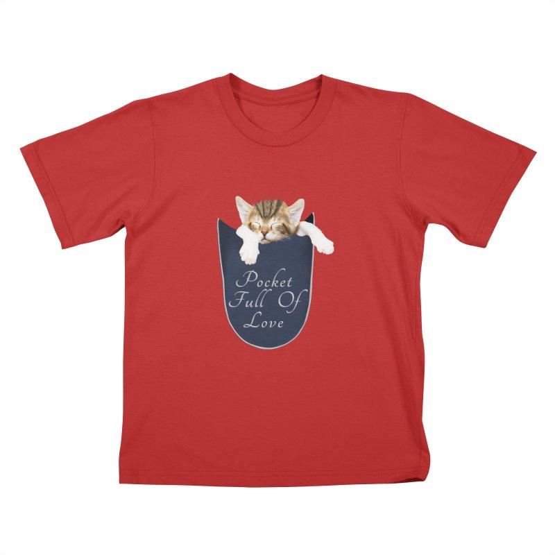 Pocket Full Of Love - Kitten in a Pocket Kids T-Shirt by Leading Artist Shop