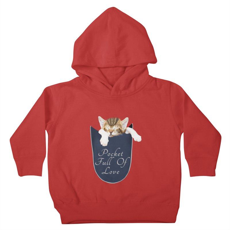 Pocket Full Of Love - Kitten in a Pocket Kids Toddler Pullover Hoody by Leading Artist Shop