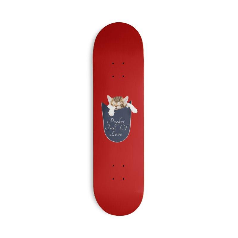 Pocket Full Of Love - Kitten in a Pocket Accessories Deck Only Skateboard by Leading Artist Shop
