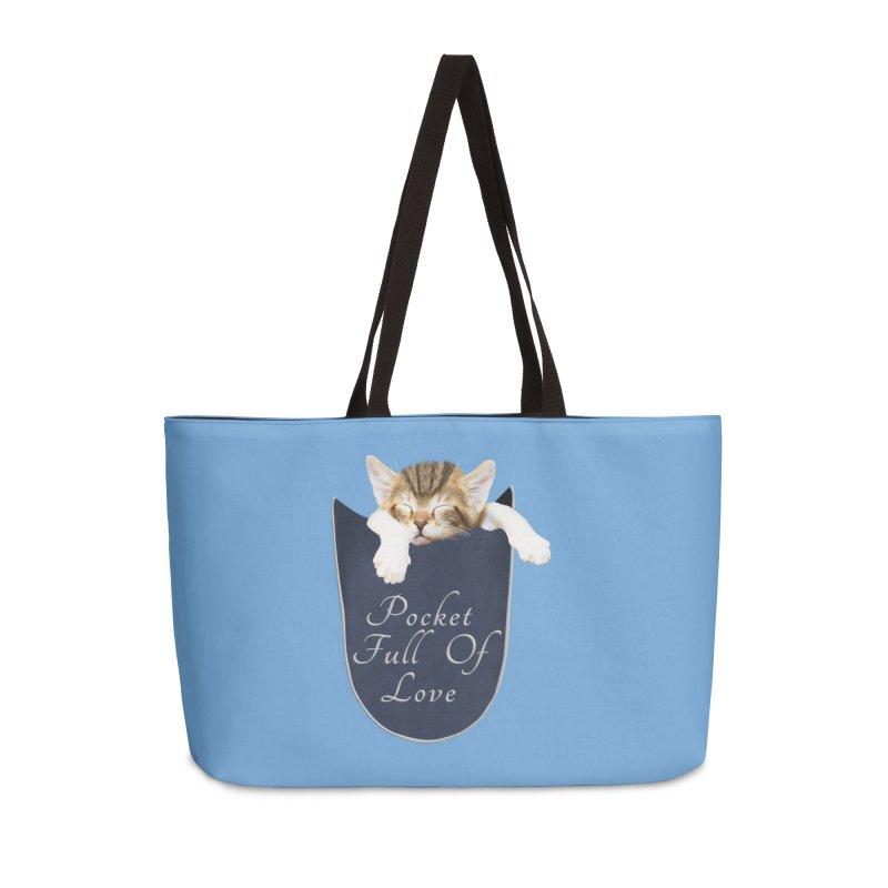 Pocket Full Of Love - Kitten in a Pocket Accessories Weekender Bag Bag by Leading Artist Shop