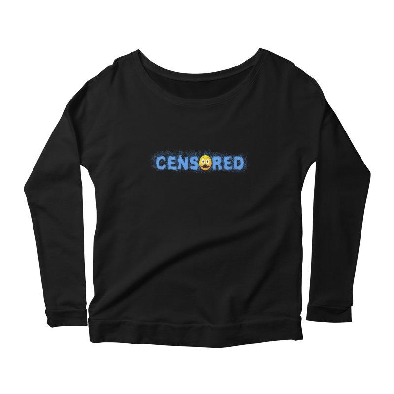 Censored Women's Scoop Neck Longsleeve T-Shirt by Leading Artist Shop