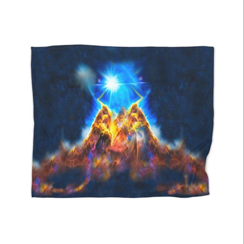 Nebula By Leading Home Fleece Blanket Blanket by Leading Artist Shop