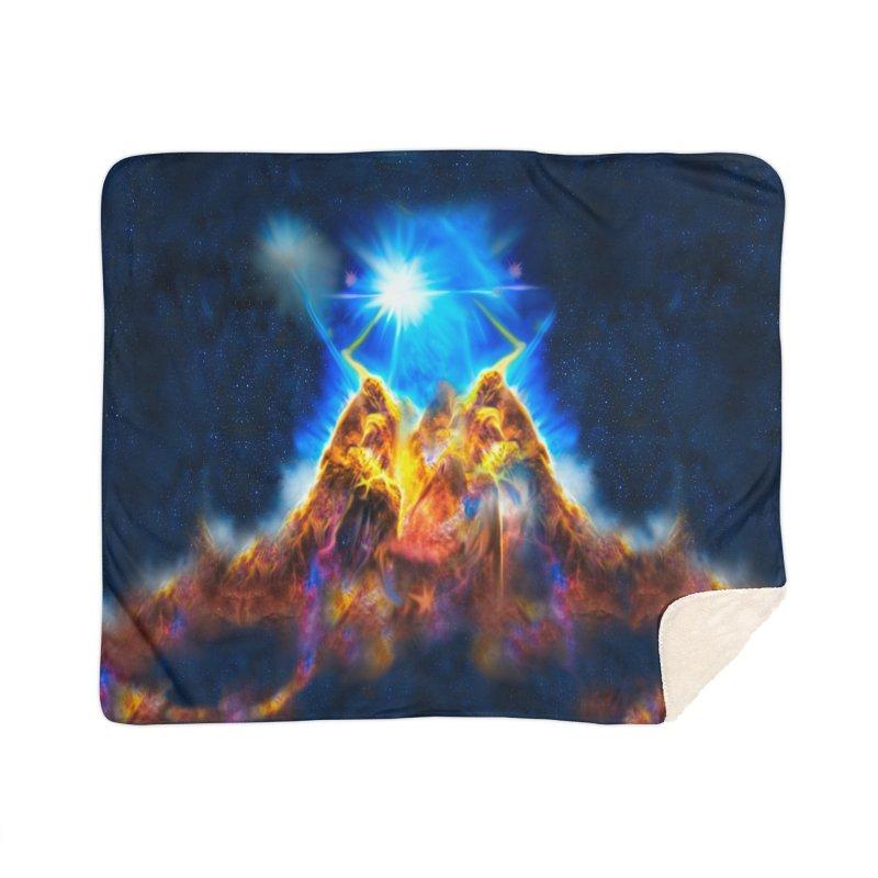 Nebula By Leading Home Sherpa Blanket Blanket by Leading Artist Shop