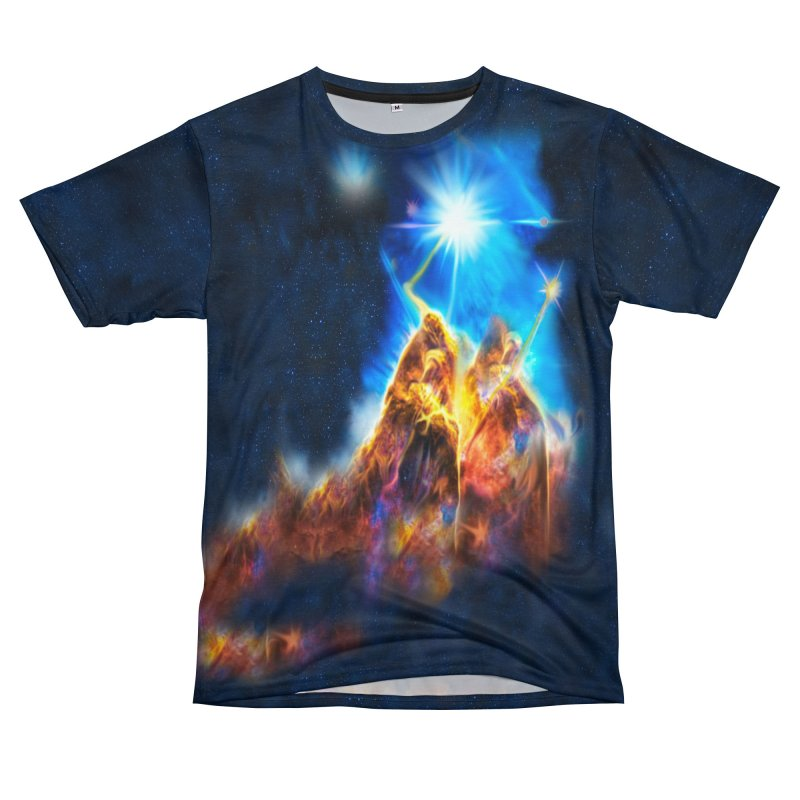 Nebula By Leading Women's Unisex T-Shirt Cut & Sew by Leading Artist Shop