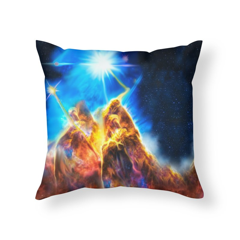 Nebula By Leading Home Throw Pillow by Leading Artist Shop