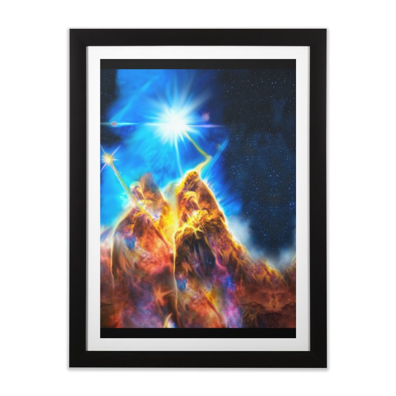 Nebula By Leading Home Framed Fine Art Print by Leading Artist Shop