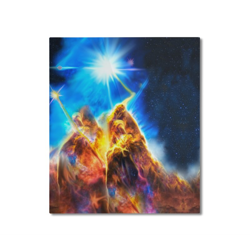 Nebula By Leading Home Mounted Aluminum Print by Leading Artist Shop