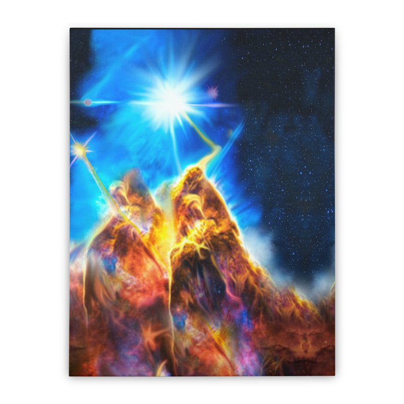 Nebula By Leading Home Stretched Canvas by Leading Artist Shop