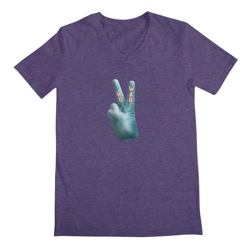 No War - Shirts Hoodies Stickers n More Men's Regular V-Neck by Leading Artist Shop