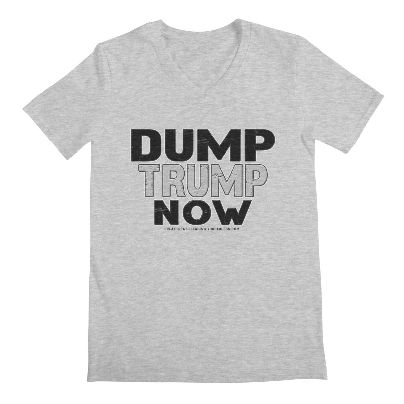 Dump Trump Now Shirts Stickers n More Men's Regular V-Neck by Leading Artist Shop