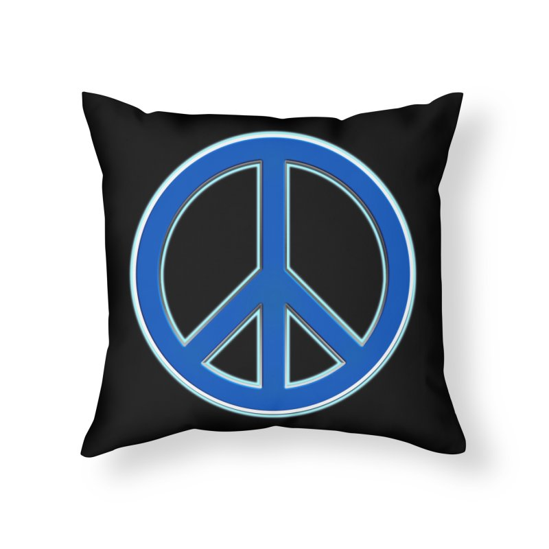 Peace Symbol No War Home Throw Pillow by Leading Artist Shop