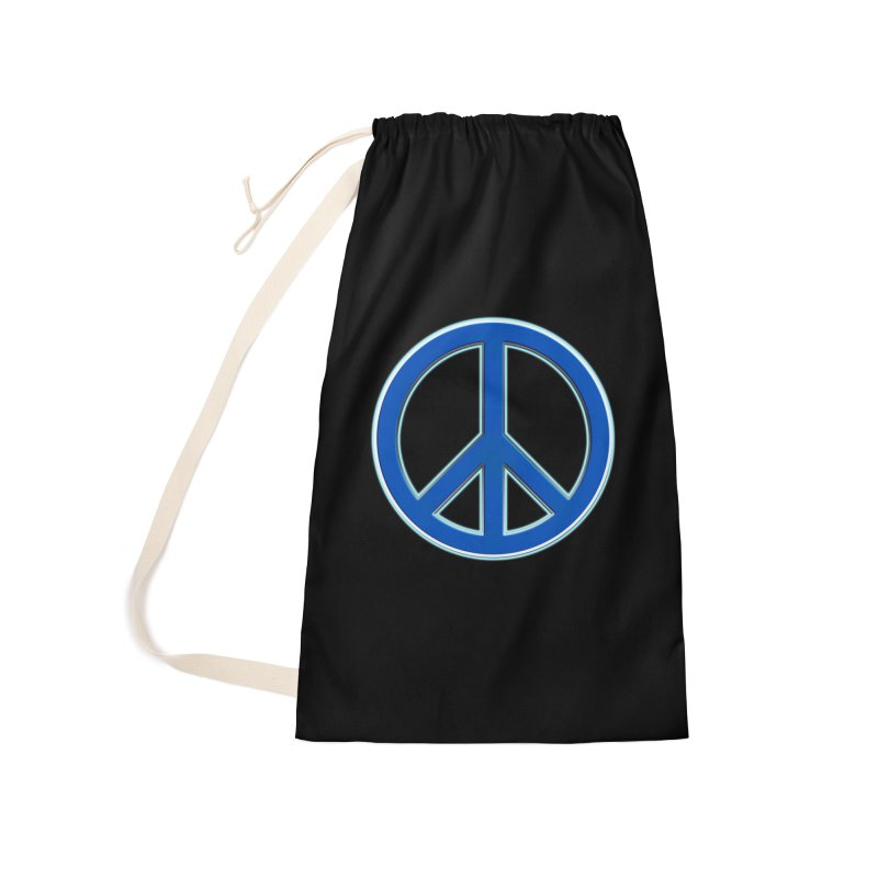 Peace Symbol No War Accessories Laundry Bag Bag by Leading Artist Shop
